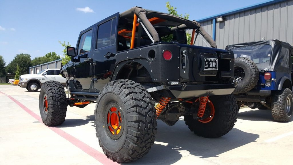 custom built 2009 Jeep Wrangler Sahara monster truck