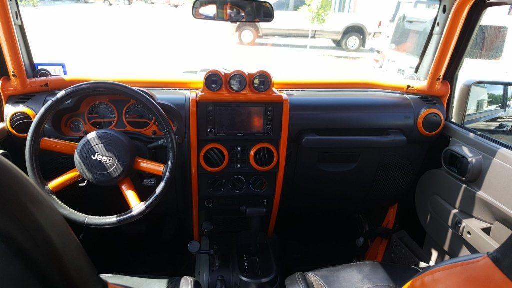 custom built 2009 Jeep Wrangler Saharam monster truck