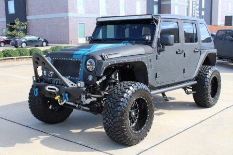 low miles 2014 Jeep Wrangler Unlimited Sport monster truck for sale