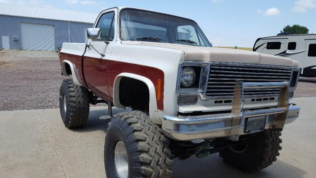 restored 1974 Chevrolet Silverado 1500 K 10 monster truck