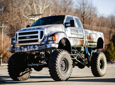 super beast 2000 Ford Pickup F-750 monster truck for sale