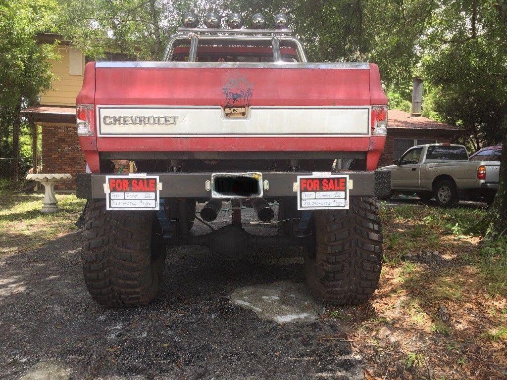 vintage 1985 Chevrolet Scottsdale Pickup monster truck