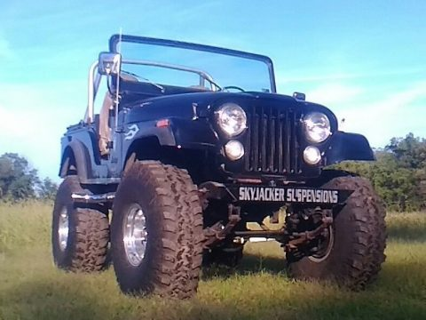 recent restoration 1974 Jeep CJ Base monster truck for sale