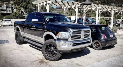 custom lifted 2010 Dodge Ram 3500 monster pickup for sale