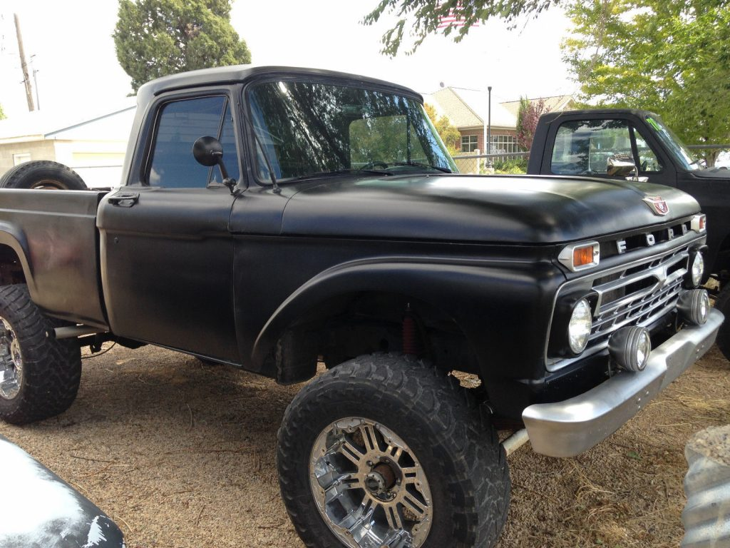 custom lifted 1963 Ford F 100 monster pickup