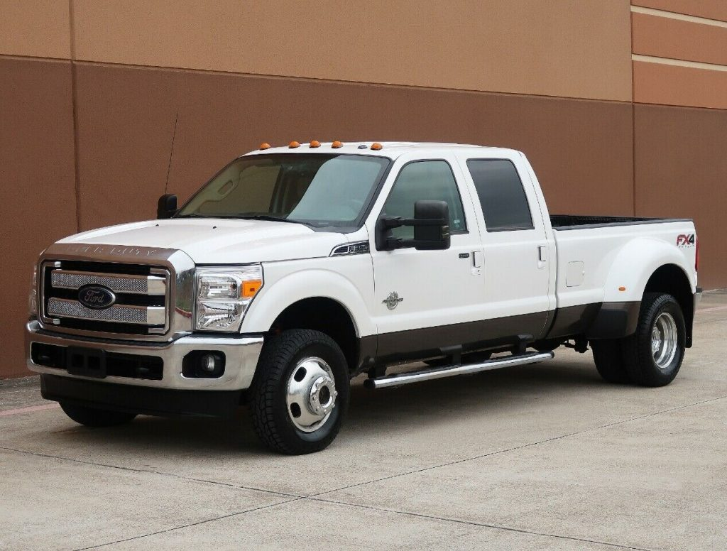 dually lifted 2012 Ford F 350 Lariat monster pickup