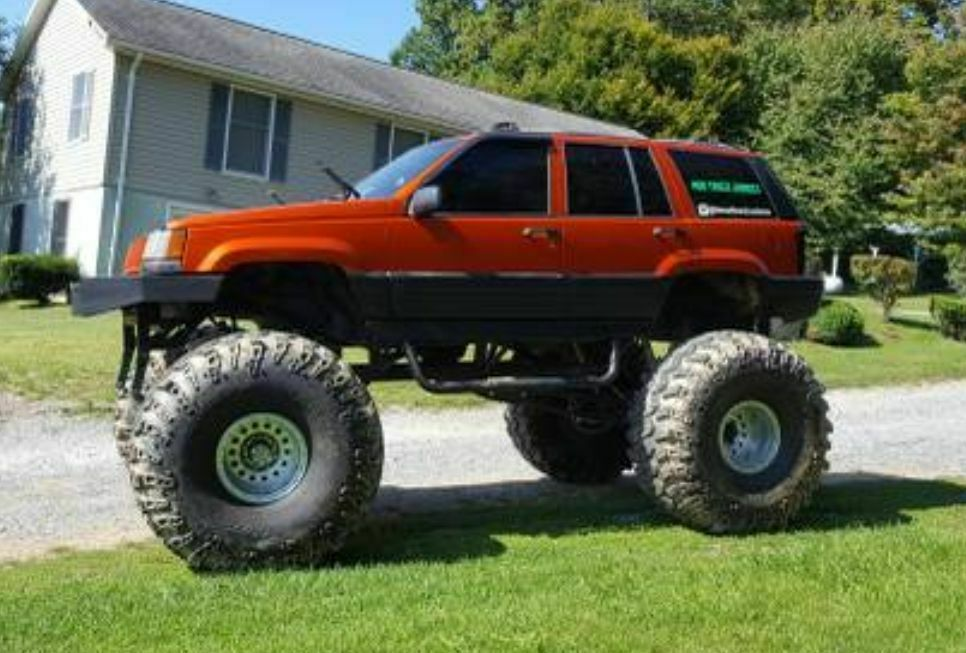 custom lifted 1995 Jeep Grand Cherokee monster