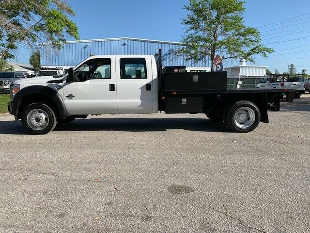 great running 2013 Ford F 550 crew cab flatbed monster
