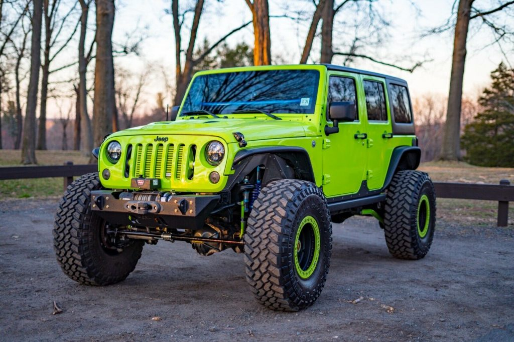 low miles 2012 Jeep Wrangler Rubicon monster