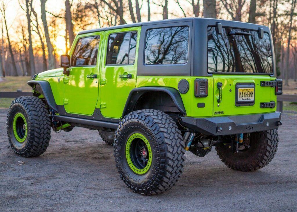 low miles 2012 Jeep Wrangler Rubicon monster