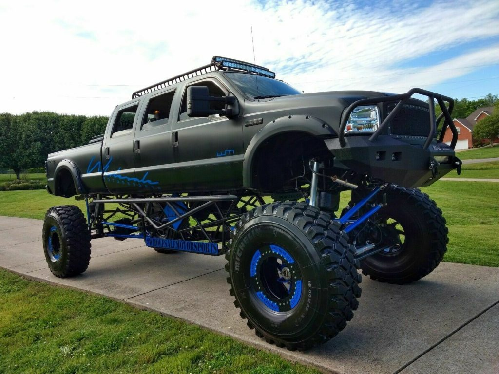 Monster Trucks For Sale >> Stretched 2005 Ford F 350 Stretched 6 Door Monster Truck For