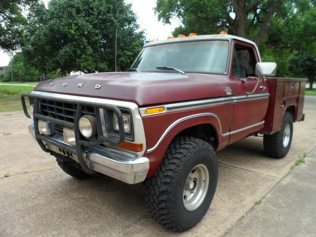 lifted 1979 Ford F 150 Ranger Lariat pickup monster