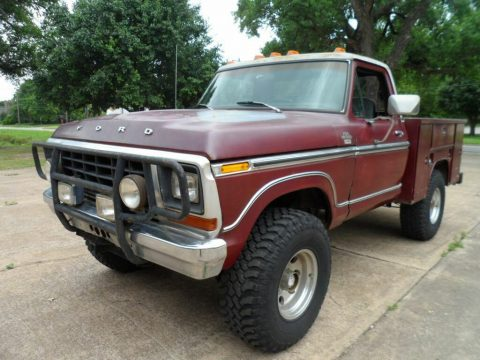 lifted 1979 Ford F 150 Ranger Lariat pickup monster for sale