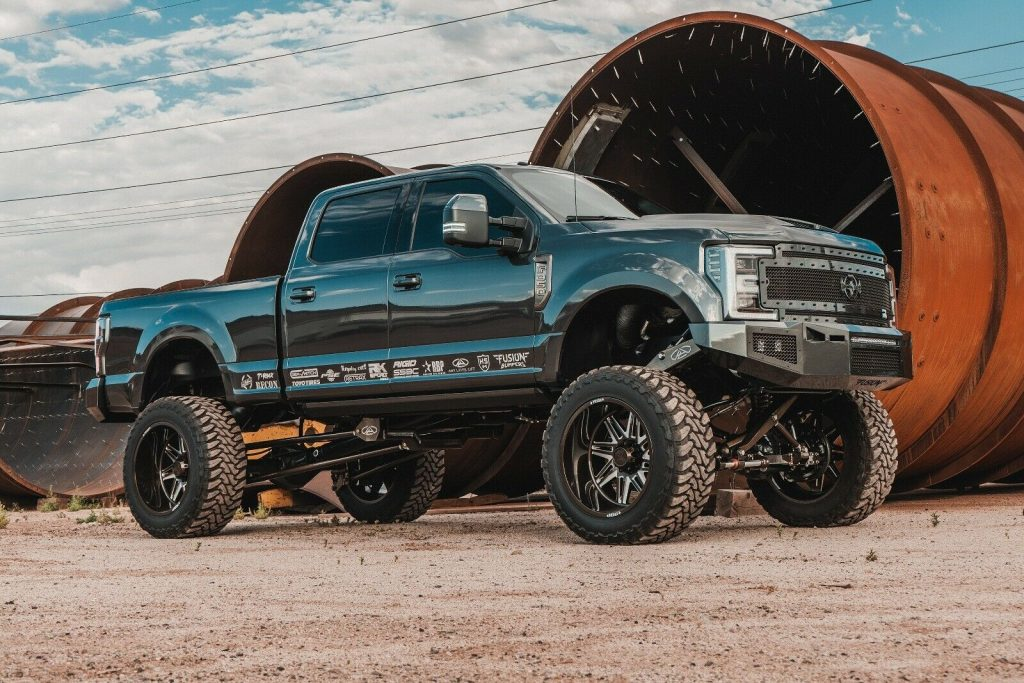 well modified 2017 Ford F 350 Platinum monster
