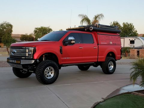 very low miles 2018 Ford F 250 Platinum overland monster for sale
