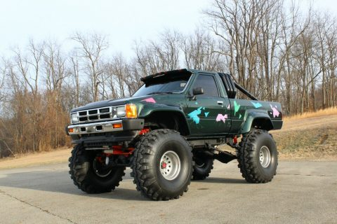 badass 1985 Toyota Pickup SR5 monster truck for sale