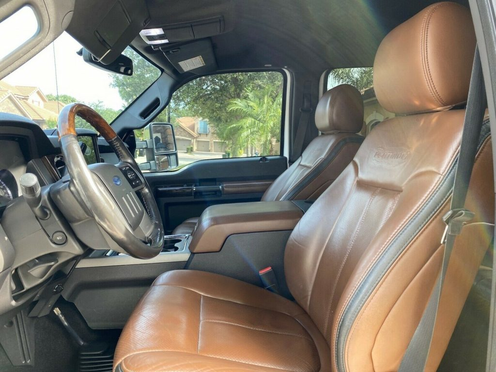 carefully maintained 2011 Ford F 350 Platinum monster